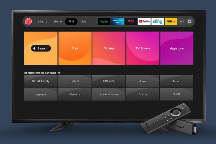 Amazon Fire TV Nouvelle expérience 2020 trouver écran