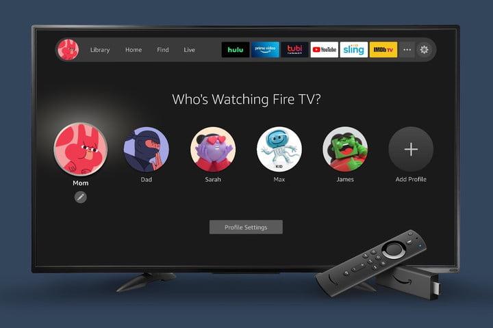 Amazon Fire TV Nouvelle expérience 2020 profils écran