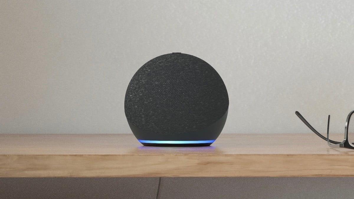 Photo de produit du nouvel Echo Dot en anthracite